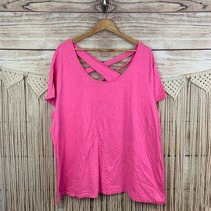 Livi Active Pink Athletic Shirt Plus Size 22/24